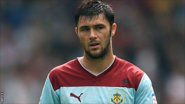 Burnley striker Charlie Austin