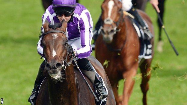Camelot, ridden by Joseph O'Brien, wins the 2012 Derby