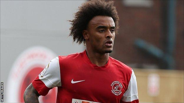 Fleetwood Town winger Junior Brown