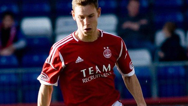 Megginson in one of only two appearances this season for Aberdeen