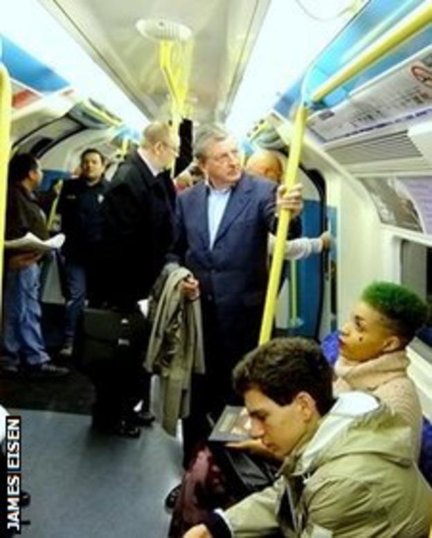 Roy Hodgson on the tube