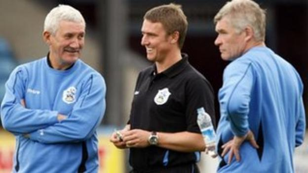 Terry McDermott, Lee Clark and Derek Fazackerley