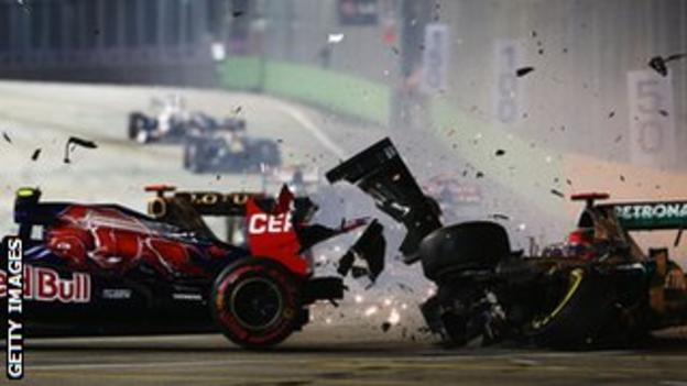 Schumacher crashed into Vergne in Singapore