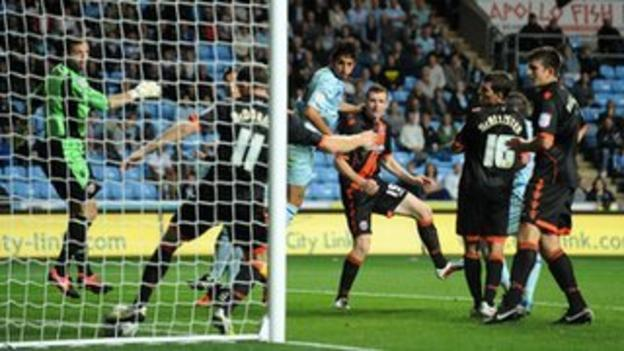 Kevin Malaga's goal-that-never-was v Sheffield United