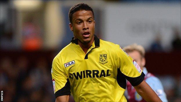 Tranmere Rovers midfielder Joe Thompson