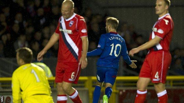 Andrew Shinnie pierced the Ross County defence