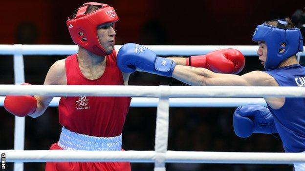 John Joe Nevin was beaten by Britain's Luke Campbell in the Olympic bantamweight final in London