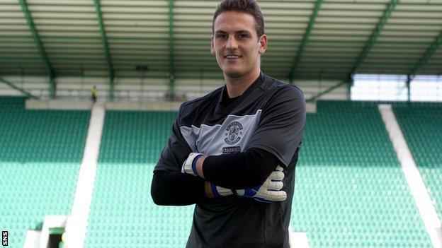 New Hibs goalkeeper Sean Murdoch
