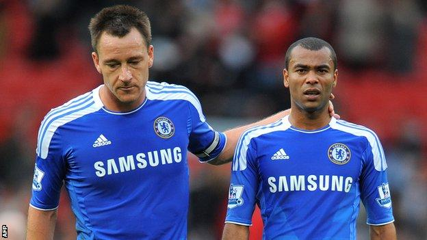 John Terry (left) and Ashley Cole (right)
