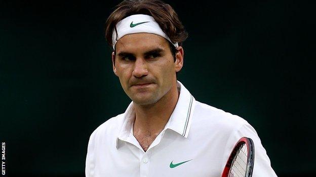 World number one Roger Federer