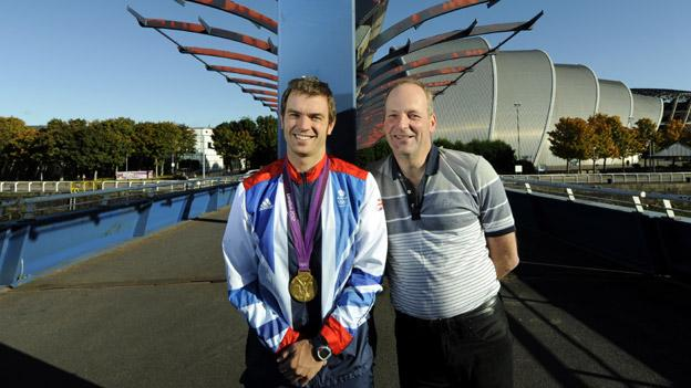 Olympic Gold medalist Tim Baillie and former coach Alan Meikle