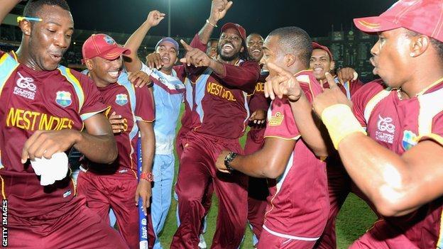 West Indies celebrate