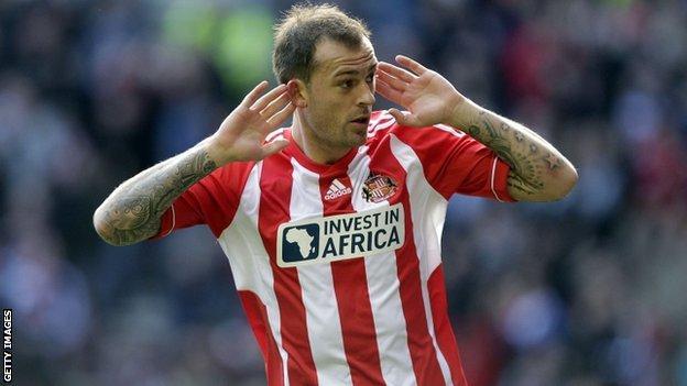 Sunderland and Scotland striker Steven Fletcher