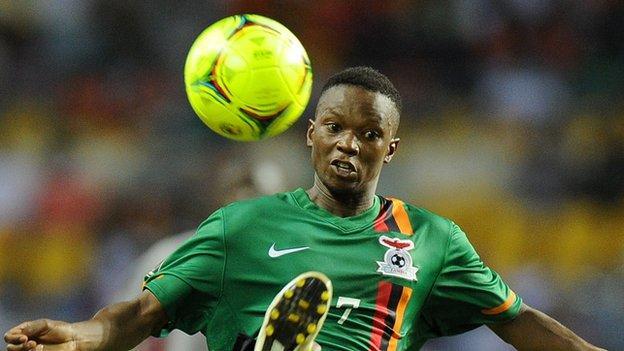 Zambia and TP Mazembe's Rainford Kalaba