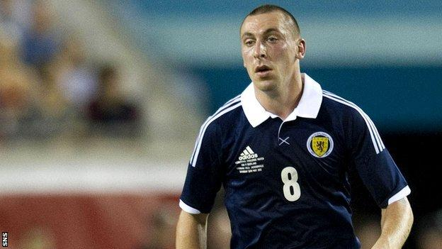 Scotland midfielder Scott Brown