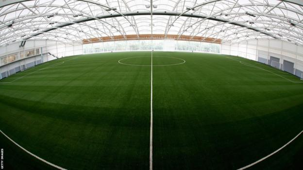 The Sir Alf Ramsey indoor pitch at St George's Park