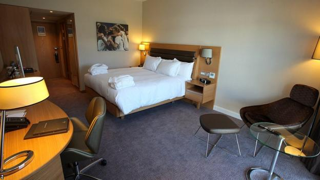 A room in the Hilton Hotel at St George's Park