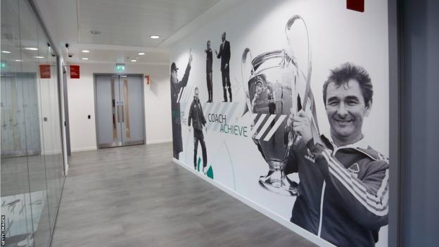 Brian Clough picture at St George's Park