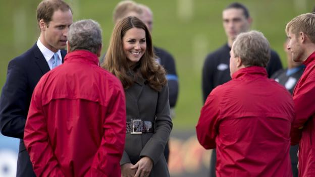 The Duke and Duchess of Cambridge at St George's Park