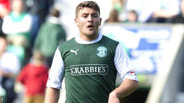 Deegan in action for Hibs following his move from Coventry