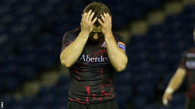 Laidlaw shows his disappointment after defeat by Treviso