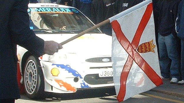 Jersey flag at Jersey Rally