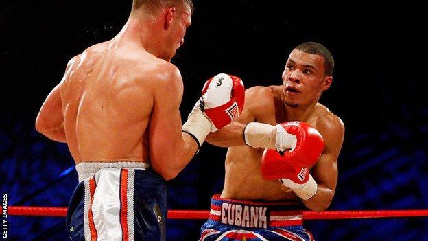 Chris Eubank Jnr (right) fights Harry Matthews