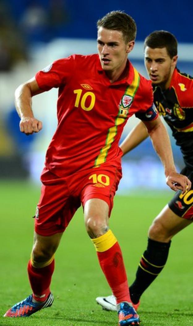 Wales midfielder Aaron Ramsay