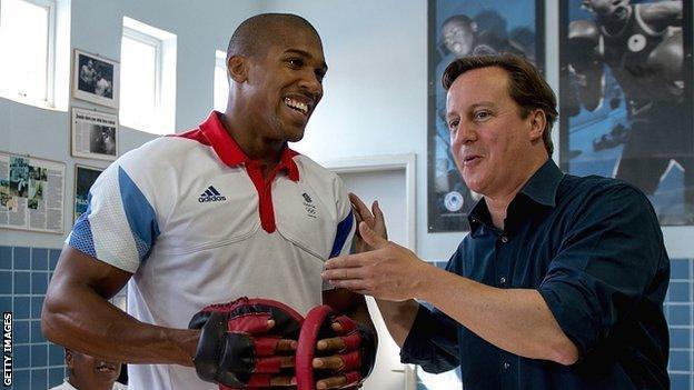 Anthony Joshua and David Cameron