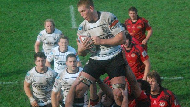 Jersey v Pontypridd line-out