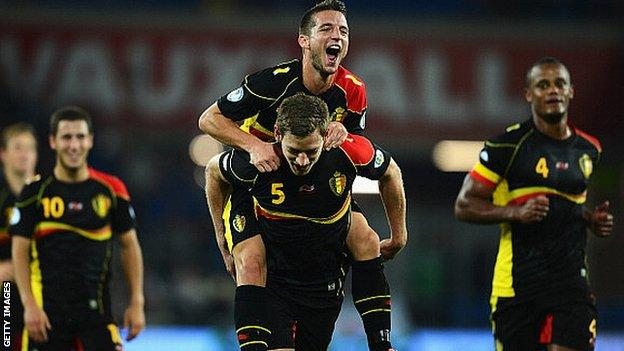 Belgium sit top of World Cup qualifying Group A