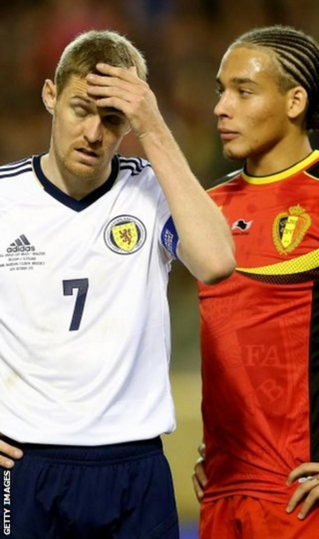 Fletcher (left) is backing Craig Levein to remain as national coach