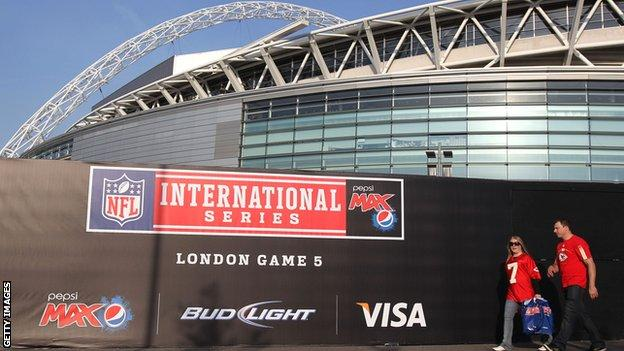 Wembley has hosted regular-season NFL games since 2007