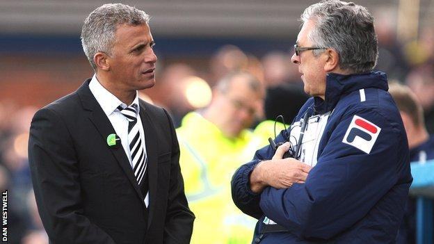 Keith Curle (left) and Colin Lee