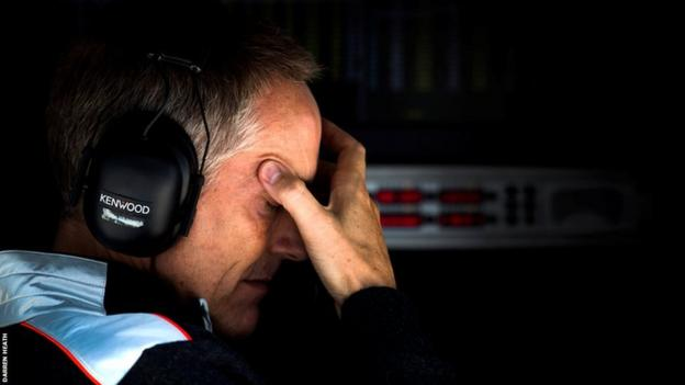 The pressures of life at the top of F1 show on McLaren team principal Martin Whitmarsh at the Korean Grand Prix
