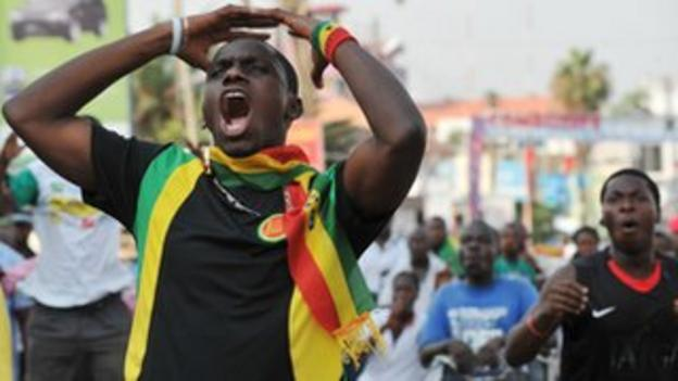 Ghanaians express their frustration as the Black Stars lose the 2010 Nations Cup final