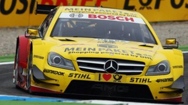 David Coulthard competing in DTM