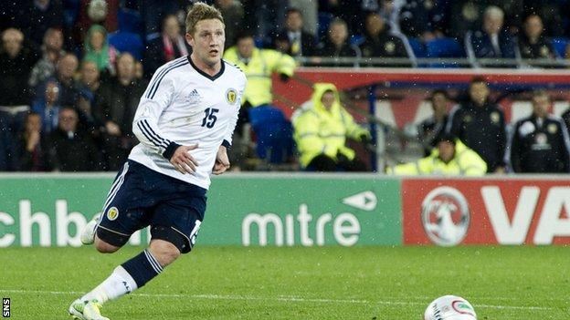 Commons in action for Scotland during the defeat by Belgium in Brussels