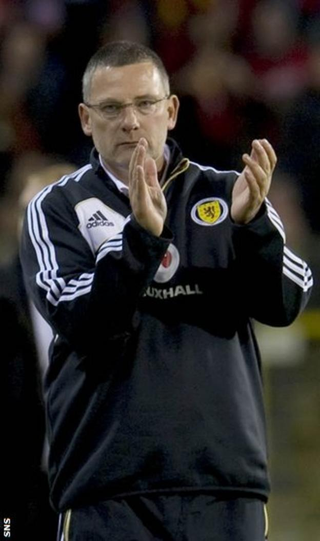 Levein has been under pressure after poor World Cup results