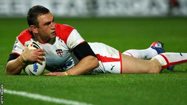 England captain Kevin Sinfield