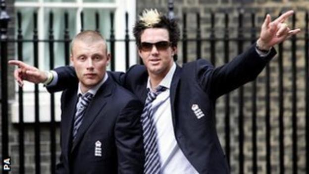 Andrew Flintoff & Kevin Pietersen