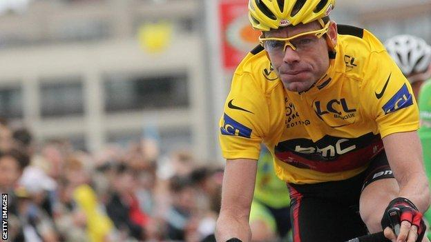 Cadel Evans on his way to winning the 2011 Tour de France