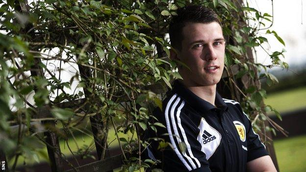 Jack was injured while on Scotland Under-21 duty