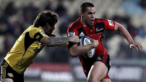 Sean Maitland in action for Crusaders