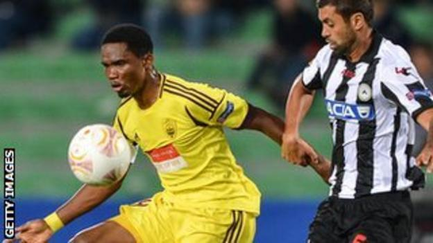 Samuel Eto'o (left)