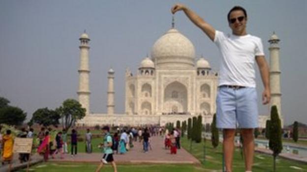 Felipe Massa at the Taj Mahal