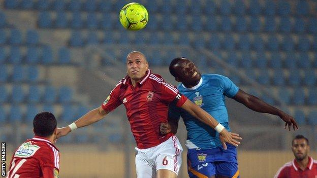 Ahly v Sunshine Stars in an empty stadium