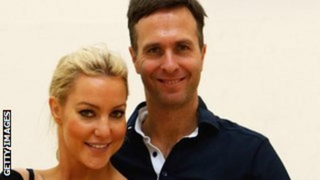 Former England cricket captain Michael Vaughan and his Strictly Come Dancing partner Natalie Lowe