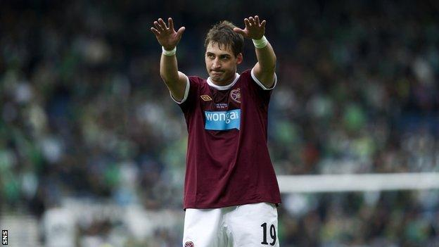 Rudi Skacel thanks Hearts fans