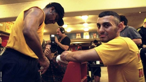 Emanuel Steward and Naseem Hamed